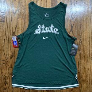Nike Michigan State Spartans Green Tank Jersey